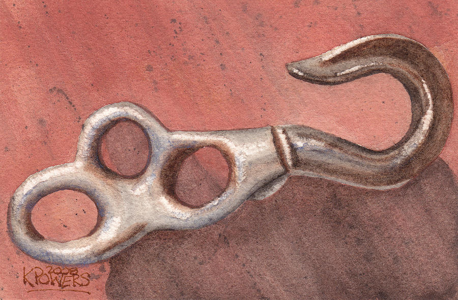 Hook Painting - Old Hook by Ken Powers