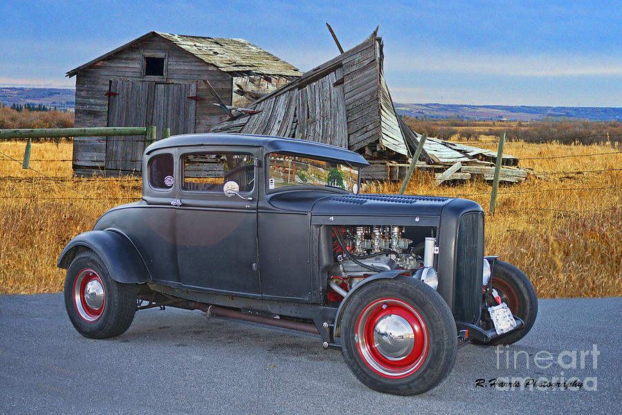 Old Hot Rod And Old Barn Photograph by Randy Harris