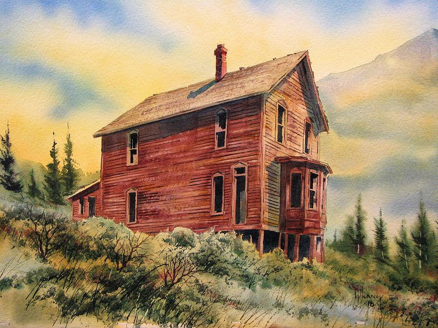 Ghost Town Painting - Old House Animas Forks Colorado by Kevin Heaney