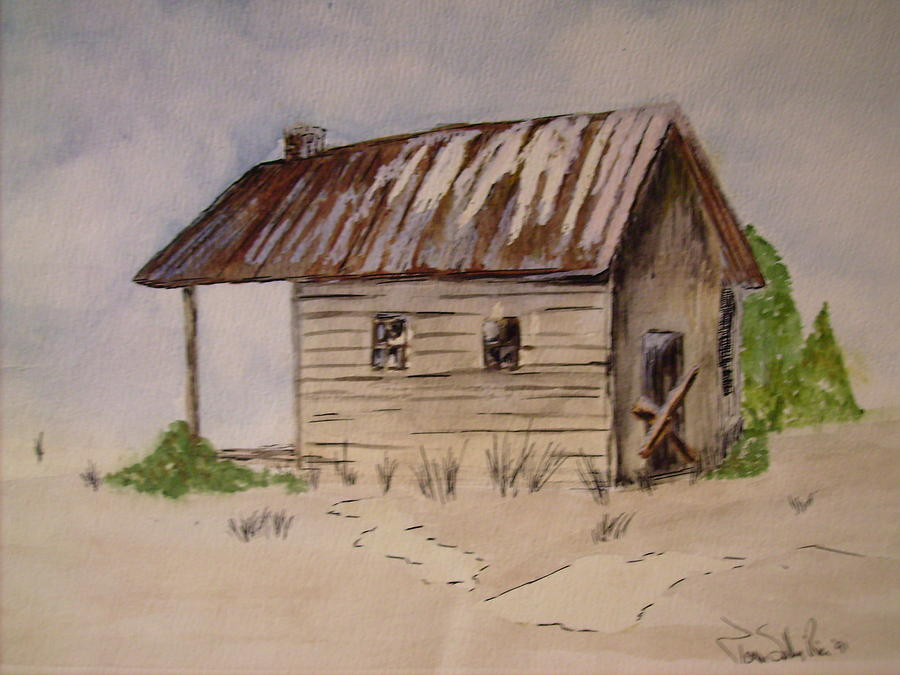 Landscape Painting - Old House by Karen Salley-Rice