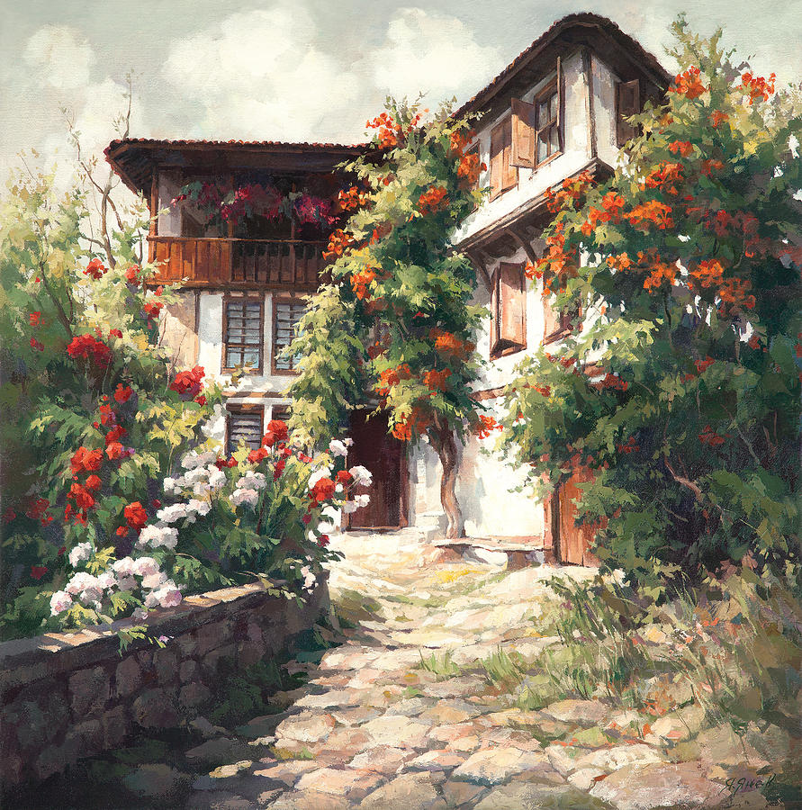 Old house painting by yanko yanev for Classic house painting