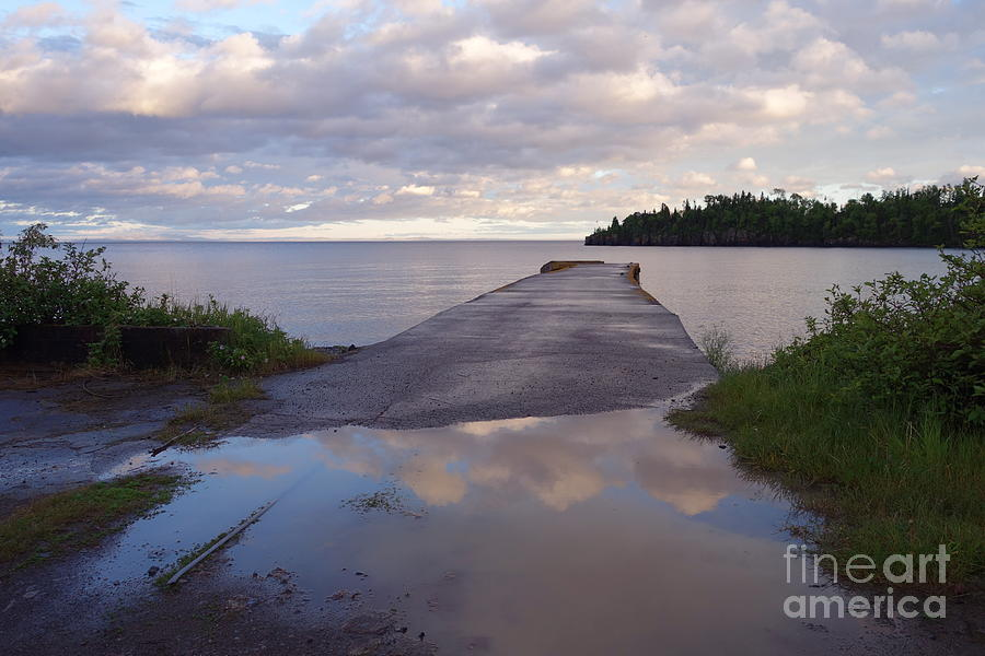 Historical Place Photograph - Old Hovland Dock After The Storm by Sandra Updyke