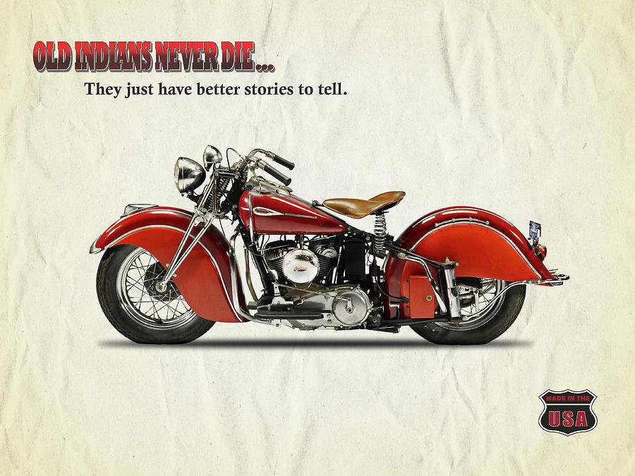 Vintage Motorcycle Art   Fine Art America