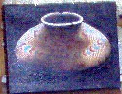 Still Life Painting - Old Indidan Pot 2 by Nancy Waller
