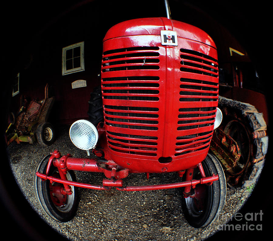 Old international harvester tractor photograph by clayton for International harvester wall decor