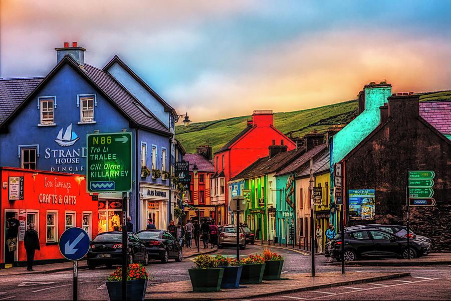Barn Photograph - Old Irish Town The Dingle Peninsula At Sunset by Debra and Dave Vanderlaan