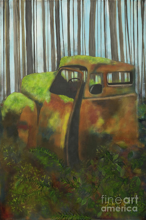 Vintage Painting - Old Jalopy by Deborha Kerr
