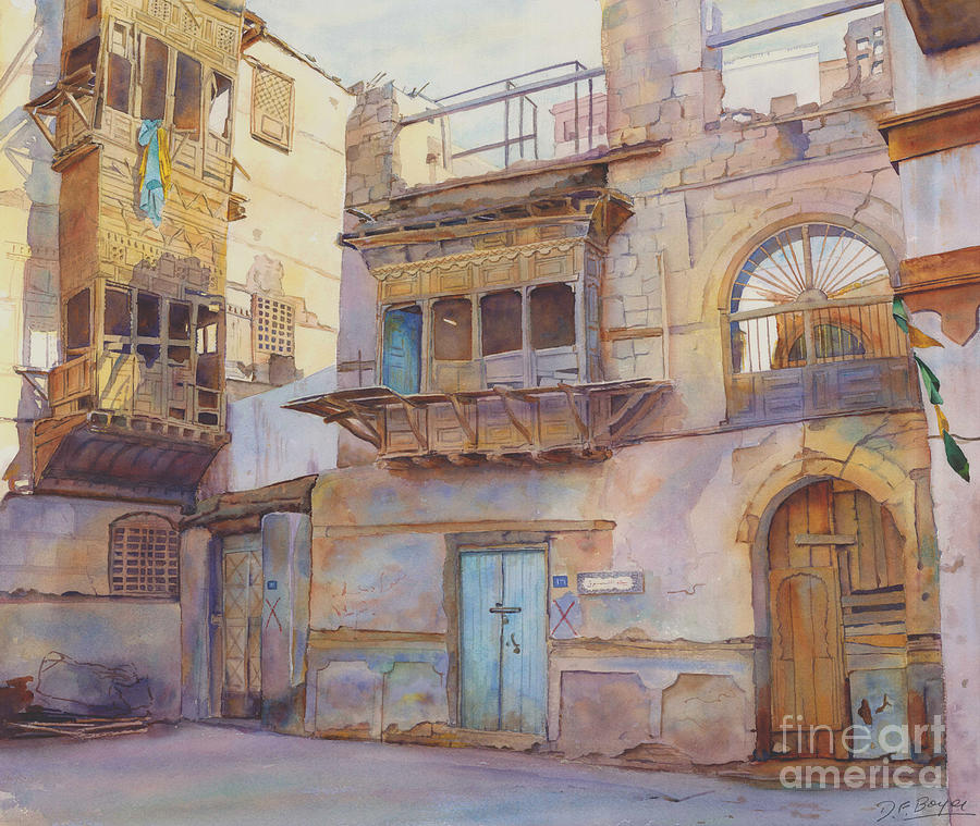 Building Prints Painting - Old Jeddah by Dorothy Boyer