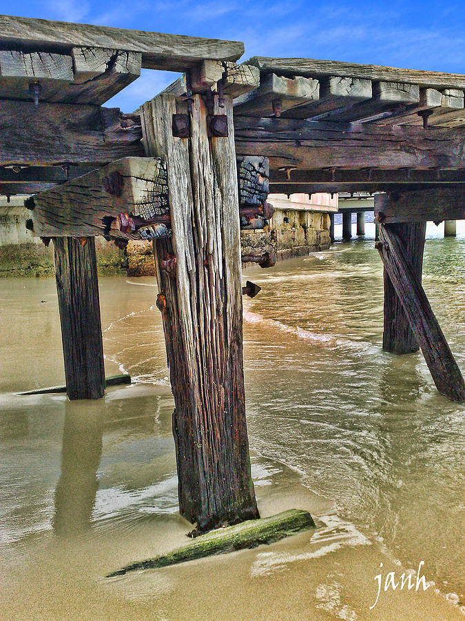 Jetty Photograph - Old Jetty by Jan Hattingh
