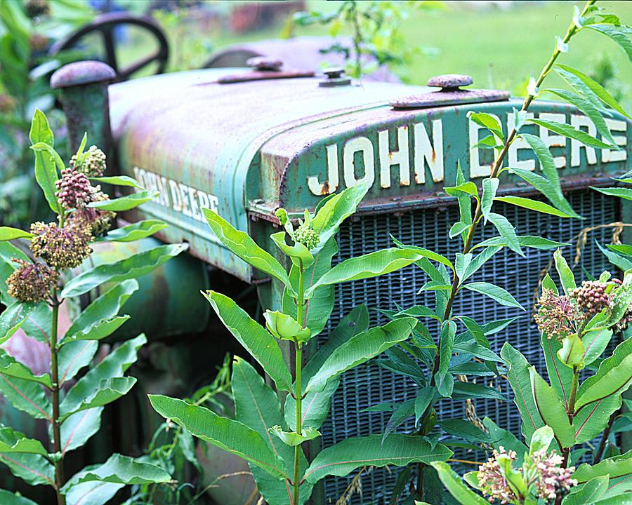 Old Photograph - Old John Deere by Robert Ponzoni