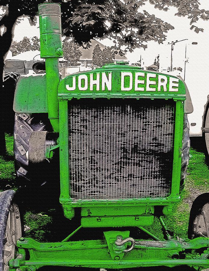 Tractor Photograph - Old John Deere Tractor - Utah State Fair by Steve Ohlsen