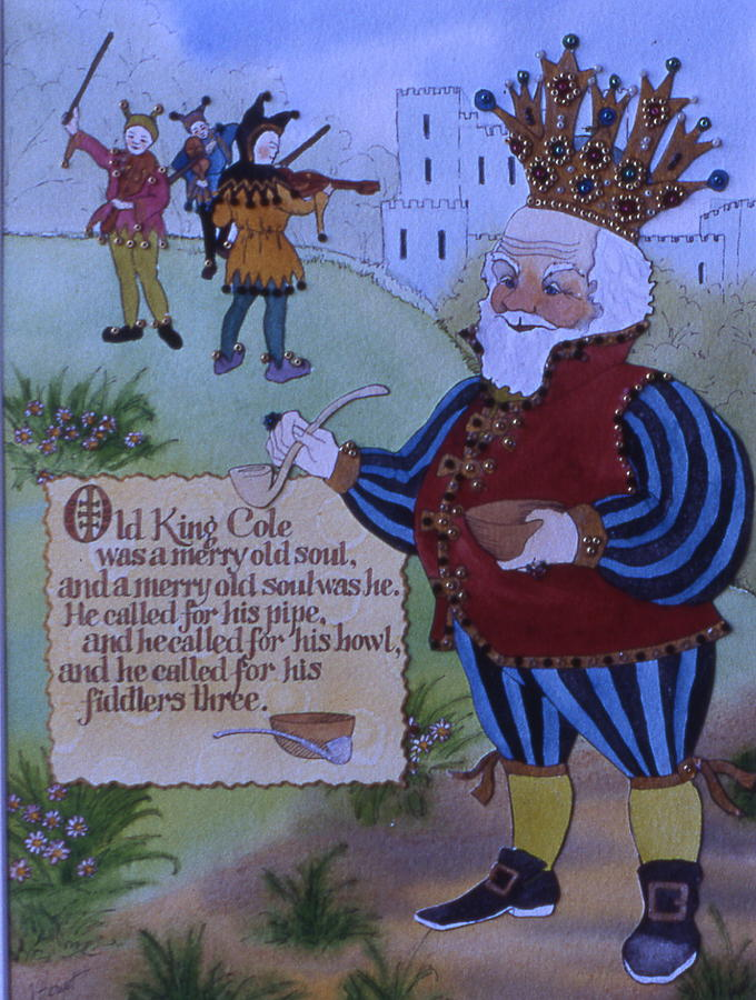 Nursery Rhyme Painting - Old King Cole by Victoria Heryet