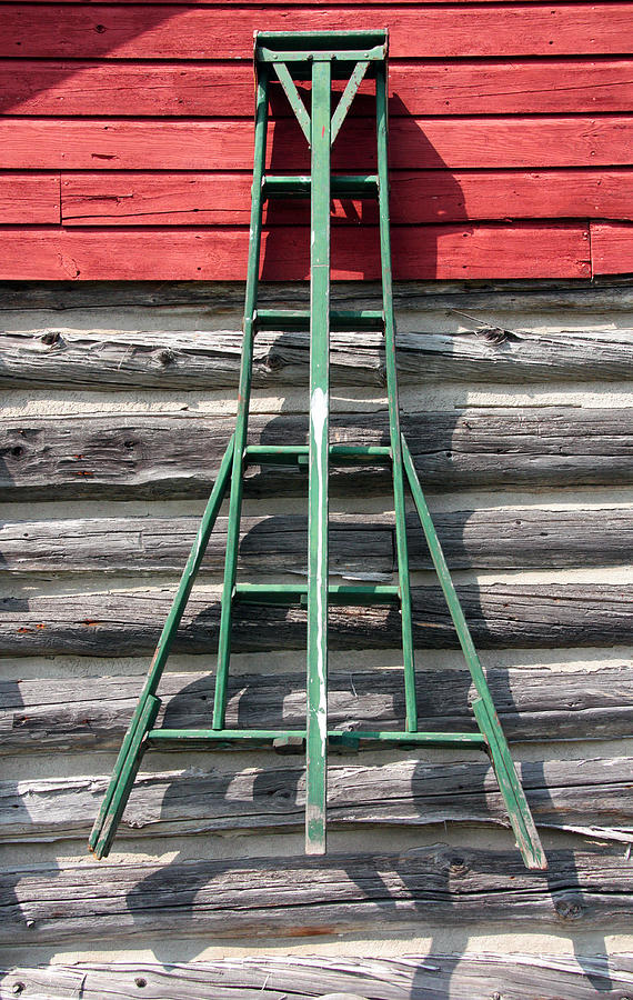 Old Ladder Photograph - Old Ladder by Joanne Coyle