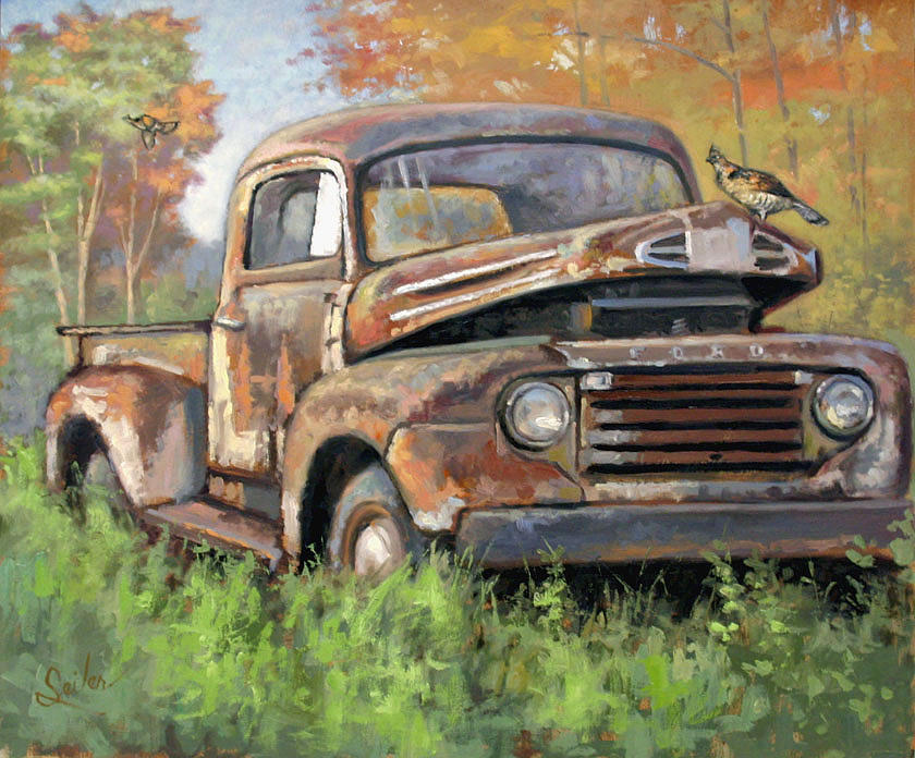 Wildlife Painting - Old  by Larry Seiler
