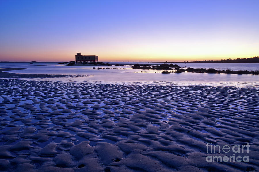 Olhao Photograph - Old Lifesavers Building Covered By Twilights Blue Light by Angelo DeVal