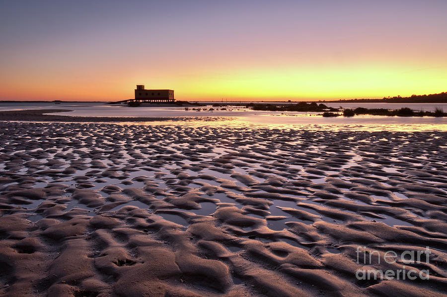 Olhao Photograph - Old Lifesavers Building Covered By Warm Sunset Light by Angelo DeVal