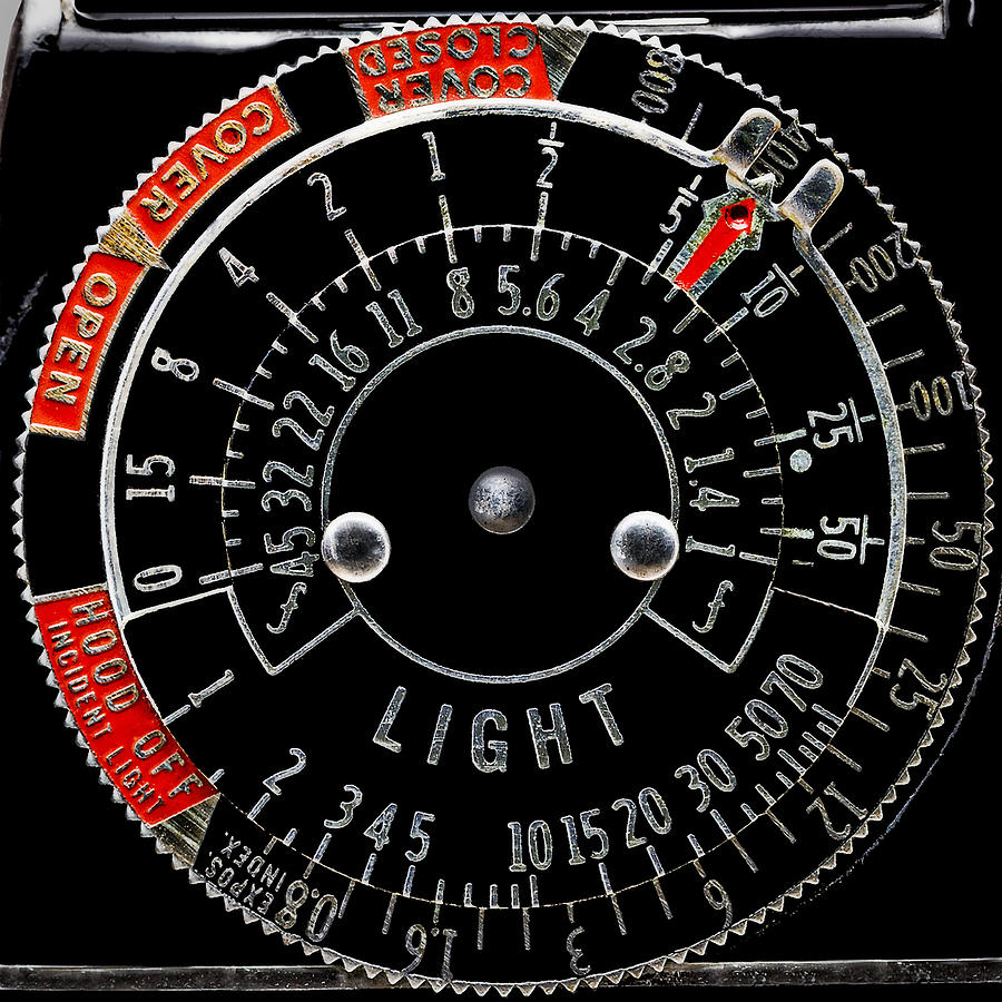 Old Light Meter Dial by Phil Cardamone