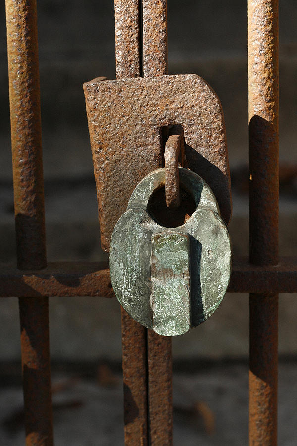 Rust Photograph - Old Lock by David Houston