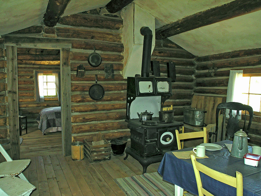 Old Log Cabin Interior Photograph By Sally Weigand