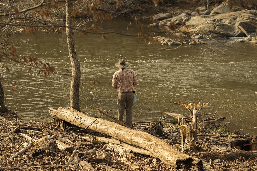 River Photograph - Old Man And The River by William Hall