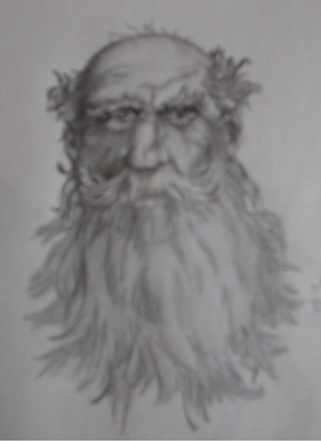 Pencil Drawing Drawing - Old Man by Brenda Coster