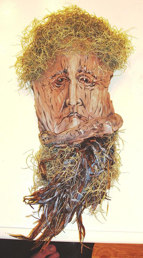 Mixed Media Mixed Media - Old Man In A Tree by Ellen Burns