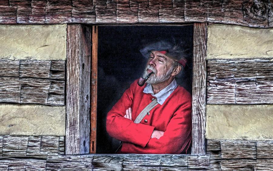 Window Digital Art - Old Man In Window by Randy Steele