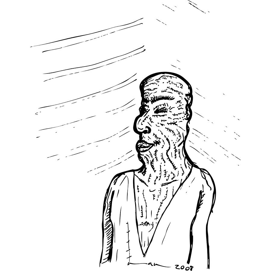 Drawing Drawing - Old Man by Karl Addison