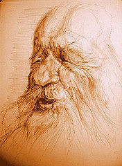 Portrait Drawing - Old Man by Florian T