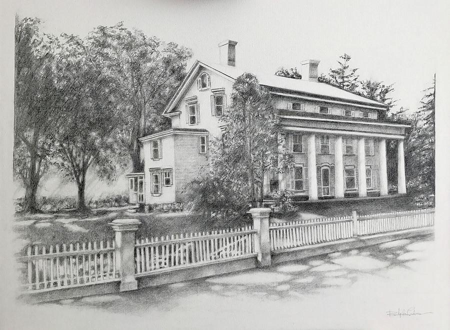 Old Mansion Drawing By Ralph Lederman