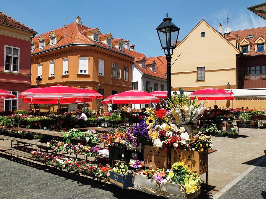 Old Market Photograph - Old Market In Center Of Zagreb City Croatia Of Eastern Europe  by Olga Kurygina