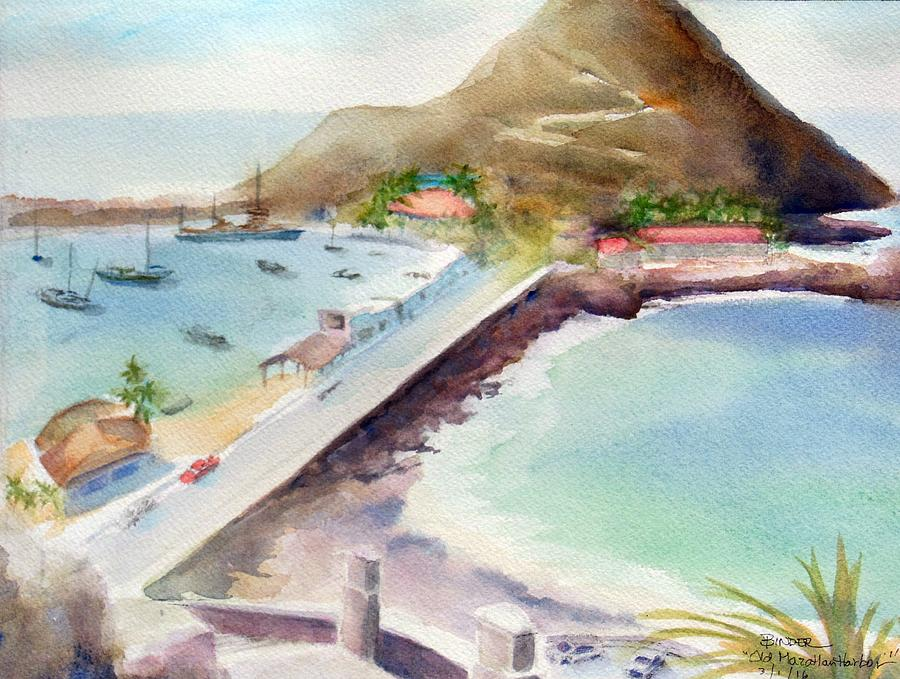 Harbor Painting - Old Mazatlan Harbor by Diane Binder