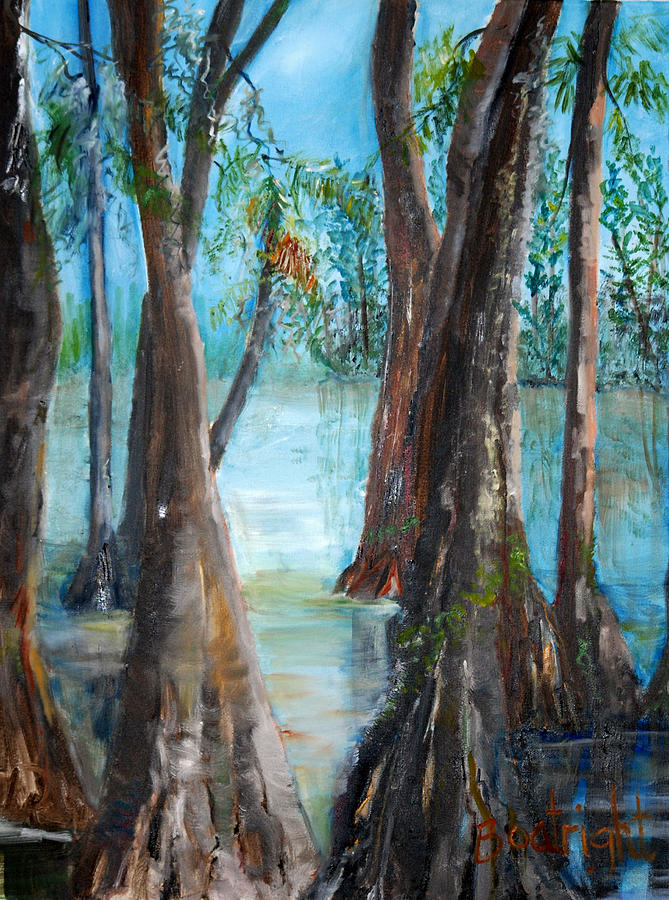 Cypress Painting - Old Men by Diane Fiore