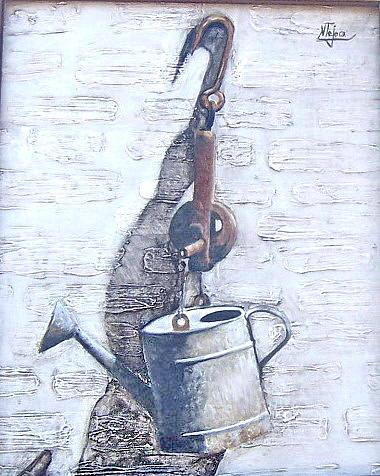 Old Metal Painting by Natalia Tejera
