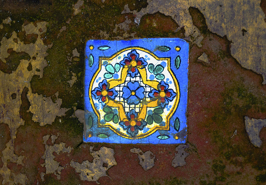 Old Mexican Tile Photograph