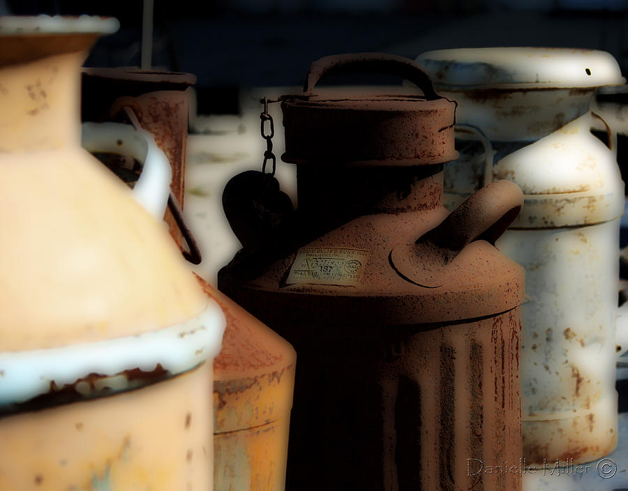 Milk Cans Photograph - Old Milk Cans by Danielle Miller