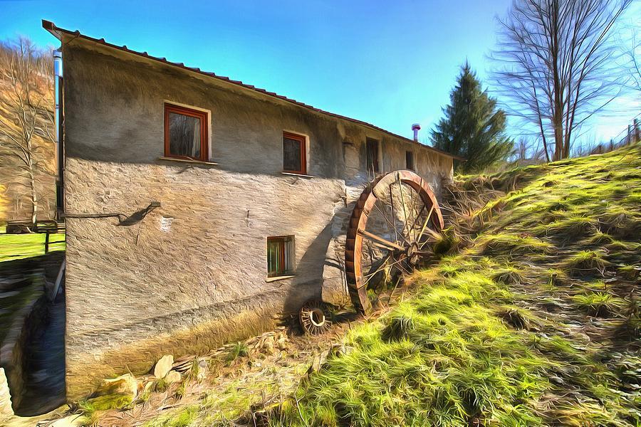 Mill Photograph - Old Mill - Antico Mulino by Enrico Pelos