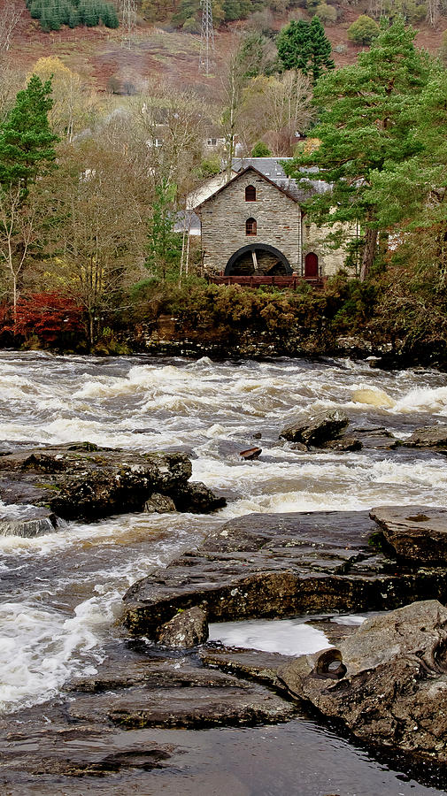 Old Mill At Dochart Waterfalls Photograph