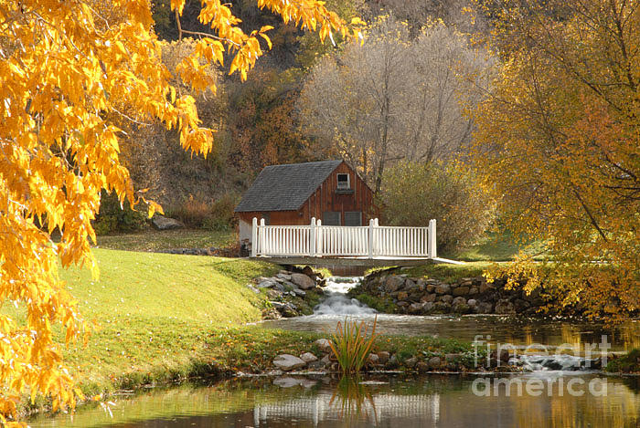 Mill Photograph - Old Mill In Autumn by Dennis Hammer