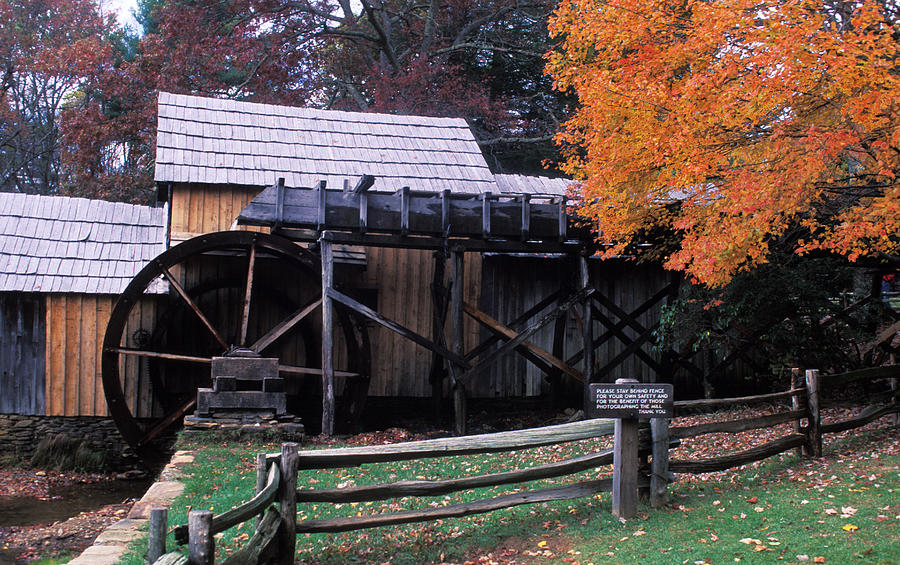 Waterwheel Photograph - Old Mill In Virginia by Carl Purcell