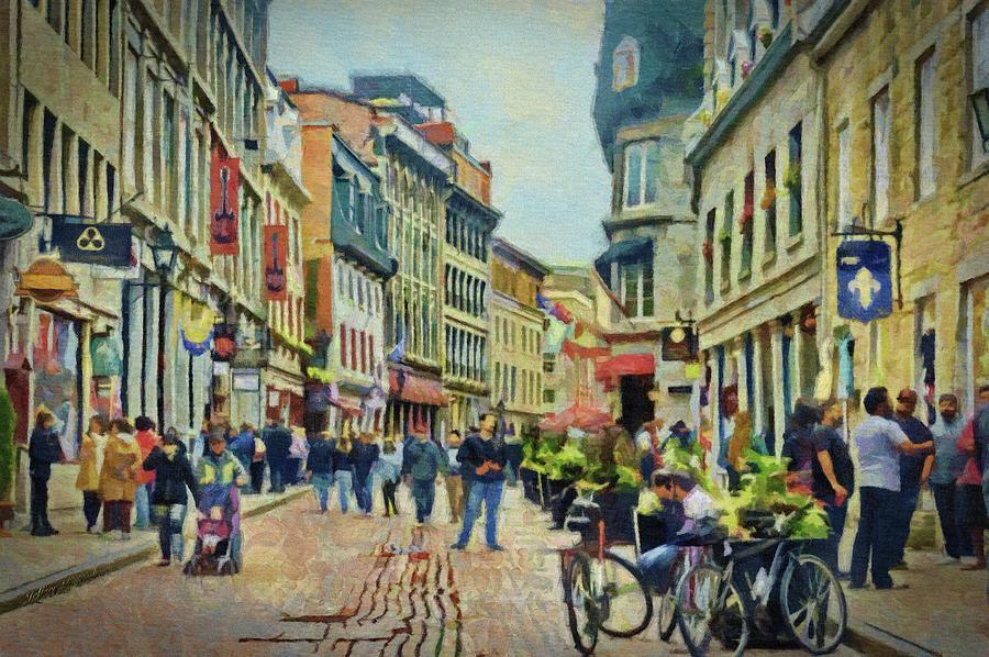 Old Montreal Street Scene by Jeffrey Kolker