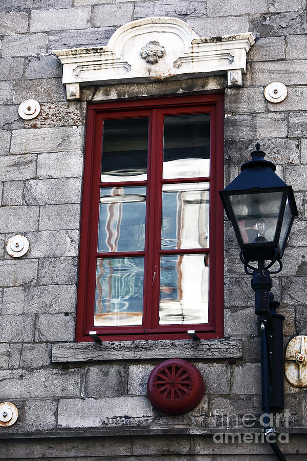 Montreal Photograph - Old Montreal Window by John Rizzuto