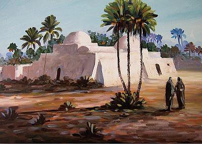 Nature Painting - Old Mosque Tripoli Libya by Abdussalam Nattah
