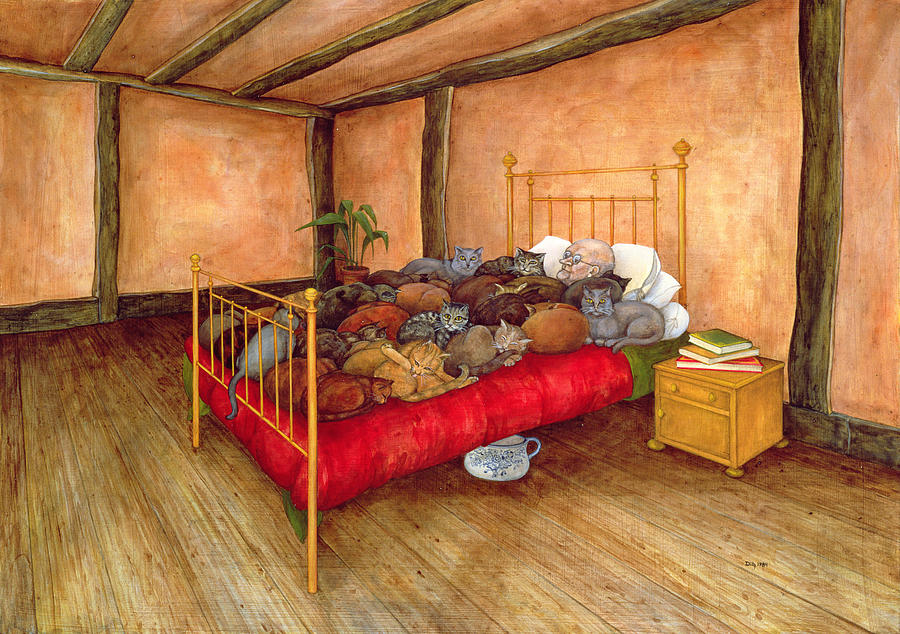 Bedroom Painting - Old Mr Tombs by Ditz