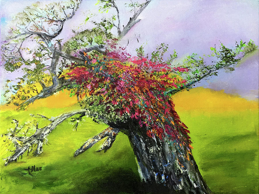 Impressionist Painting - Old Nantucket Tree by Terry R MacDonald