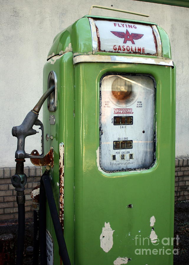 Gasoline Photograph - Old National Gas Pump by DazzleMePhotography