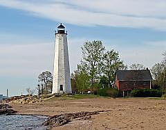 Lighthouse Photograph - Old New Haven Light by Tara Corbett