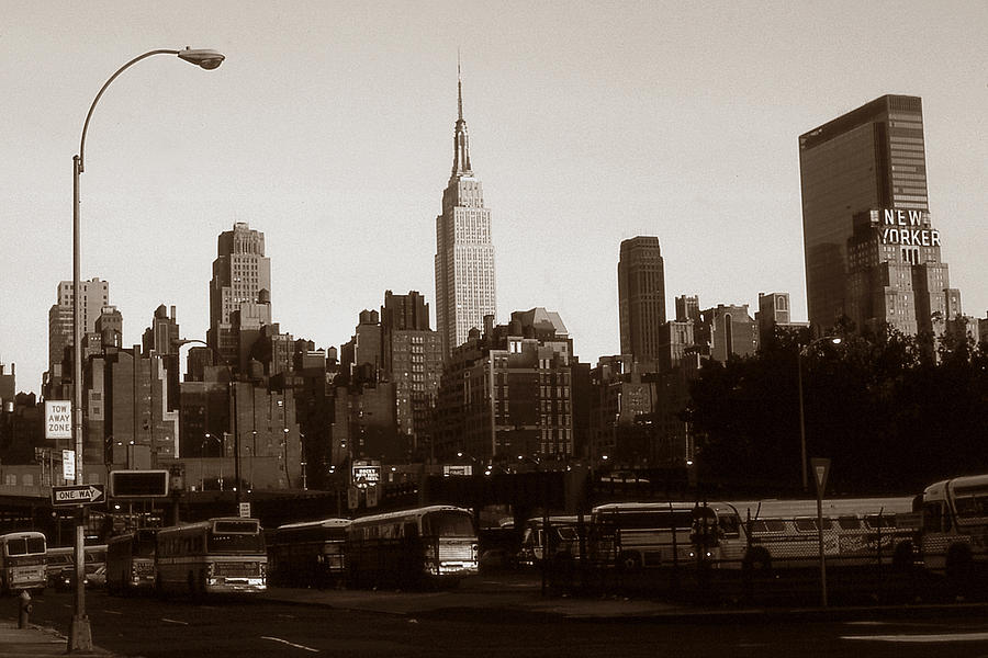 Old New York Photo Empire State Building And Midtown Skyline