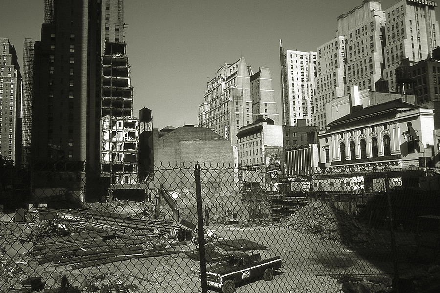 Old New York Photo Manhattan Construction Site Photograph By