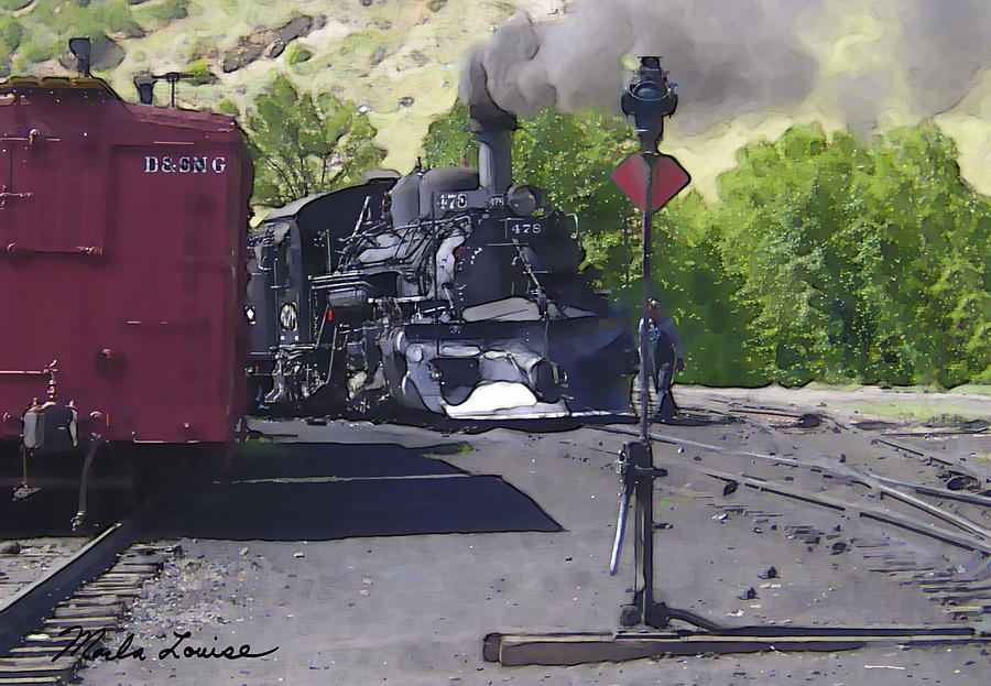 Railroad Photograph - Old No. 478 by Marla Louise